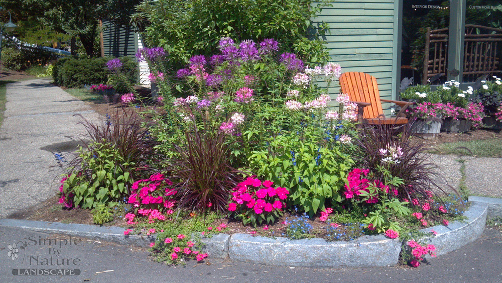 Flower garden design simple by nature lanscape - Flower and lawn landscaping ideas ...