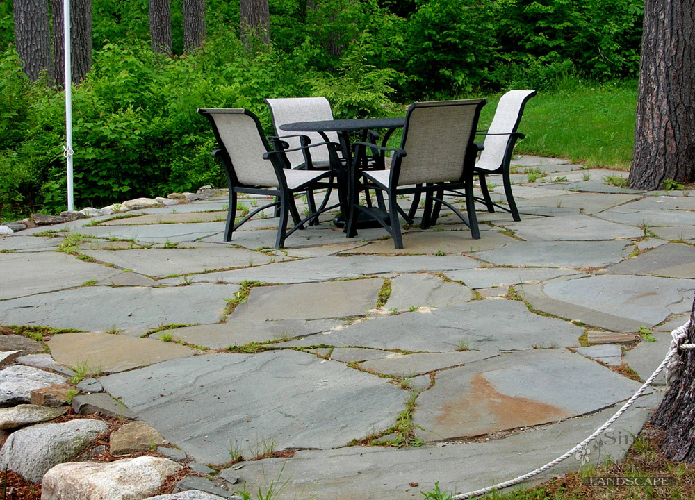 Snow Plowing Stone Patio Design
