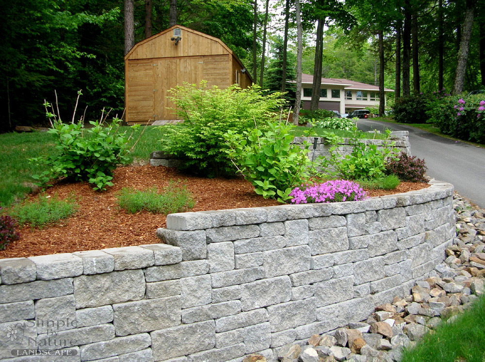 Custom stone walls simple by nature landscape for Landscaping stones