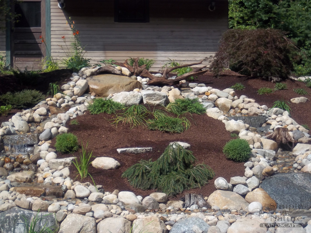 Water feature projects simple by nature landscape for Waterfall design